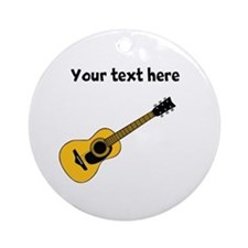 Customizable Guitar Ornament (Round)
