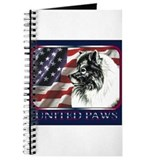 Keeshond USA Flag Journal