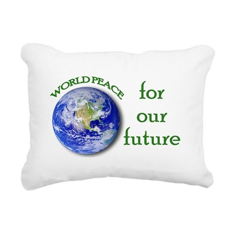 World Peace Rectangular Canvas Pillow