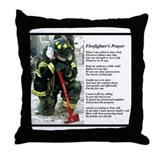 Old Version Firefighter Prayer Throw Pillow