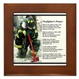 Old Version Firefighter Prayer Framed Tile