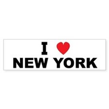 I Love New York Bumper Bumper Sticker