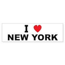 I Love New York Bumper Stickers