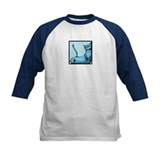 blue smiling cat design Tee