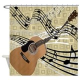 Abstract Guitar Shower Curtain