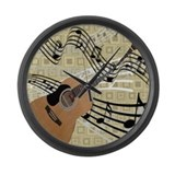 Abstract Guitar Large Wall Clock