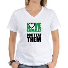 Women's Love Animals Vegan Tshirt T-Shirt