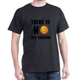 No Off Season Basketball Black T-Shirt