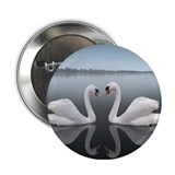 "Swan Reflection 2.25"" Button"