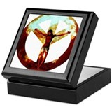when peace is reversed Keepsake Box