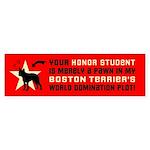 Boston Terrier World Domination Plot Sticker