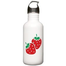 Sweet Strawberries Sports Water Bottle