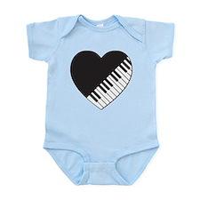 Piano Heart Infant Bodysuit