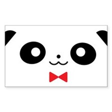 Peekaboo Panda Red Bow Bumper Stickers