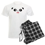 Peekaboo Panda Red Bow pajamas