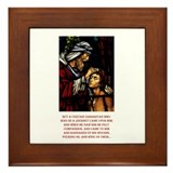 Good Samaritan Framed Tile