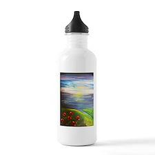 Six Flowers Swaying Sports Water Bottle
