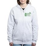 Reduce Reuse Reycle Women's Zip Hoodie