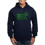 Reduce Reuse Reycle Hoodie (dark)