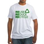 Reduce Reuse Reycle Fitted T-Shirt