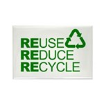 Reduce Reuse Reycle Rectangle Magnet
