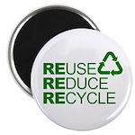 Reduce Reuse Reycle Magnet