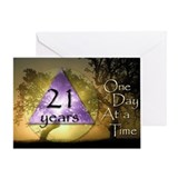 21 Year Birthday Greeting Card - One Day at a Time