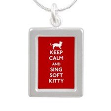Keep Calm and Sing Soft Kitty Silver Portrait Neck