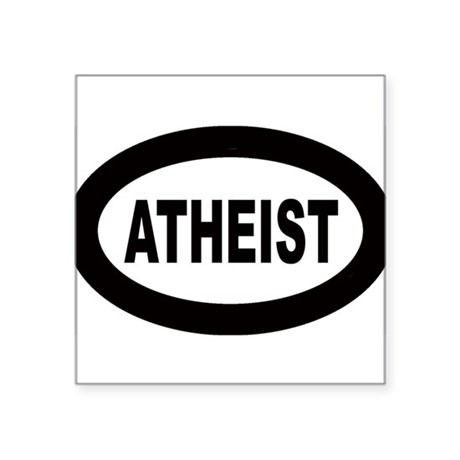 Atheist Oval Sticker