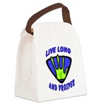 Live Long Canvas Lunch Bag