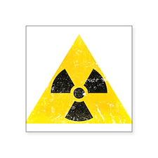 "Vintage Radioactive Square Sticker 3"" x 3"""