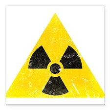 "Vintage Radioactive Square Car Magnet 3"" x 3"""