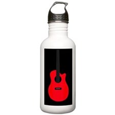 Red Guitar Water Bottle