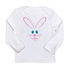 Pink Bunny Face Long Sleeve Infant T-Shirt