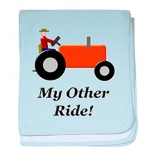 My Other Ride Orange baby blanket