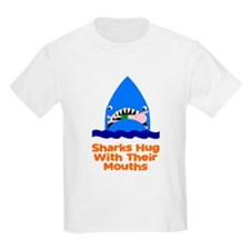 Sharks hug with their mouths T-Shirt