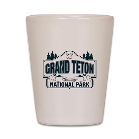 Grand Teton Blue Sign Shot Glass