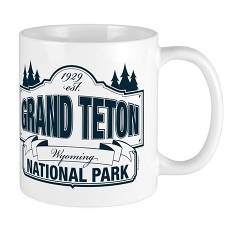Grand Teton Blue Sign Mug