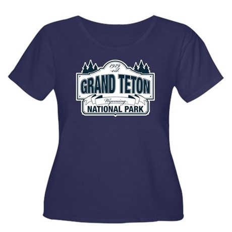 Grand Teton Blue Sign Women's Plus Size Scoop Neck