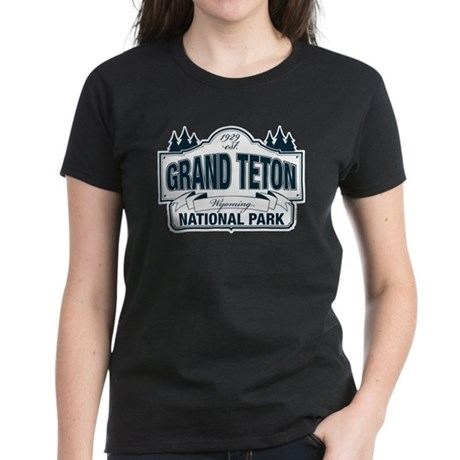 Grand Teton Blue Sign Women's Dark T-Shirt