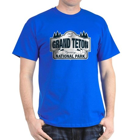 Grand Teton Blue Sign Dark T-Shirt