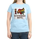 Tattooed Boys Ash Grey T-Shirt T-Shirt