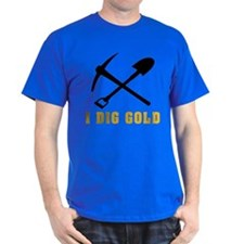 Rockhoud I Dig Gold T-Shirt