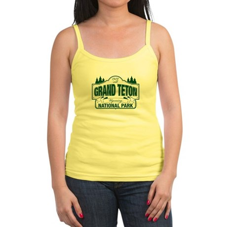 Grand Teton Green Sign Jr. Spaghetti Tank