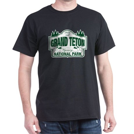 Grand Teton Green Sign Dark T-Shirt