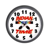 Cute American indian Wall Clock