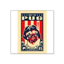 Pug USA Flying Ace! Rectangle Sticker
