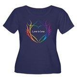 Tribal (Heart) - Dark Tee Shirts Plus Size T-Shirt