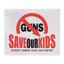 Save Our Kids Throw Blanket