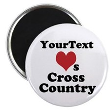 Customize Loves Cross Country Magnet